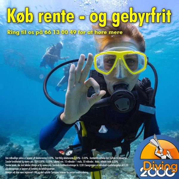 Rente- og gebyrfri finansiering af dit dykkerudstyr hos Diving 2000