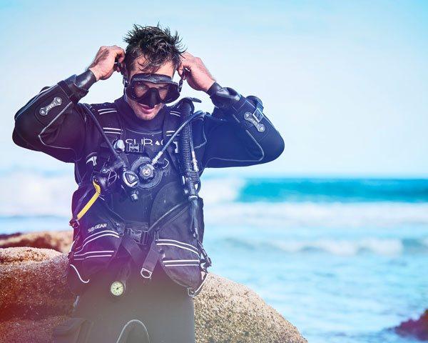 samlede pakkker - dykkerudstyr, snorkling, strandsæt, uv jagt