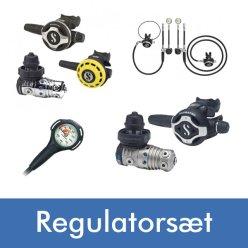 Diving 2000 har et stort udvalg af regulatorsæt fra mærker som f.eks. Scubapro